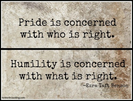 Humility Pride Quotes