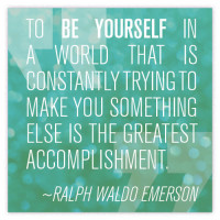 Emerson Be Yourself